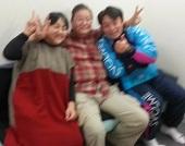 澤口先生とトミーさんと私(ぼけぼけ写真)
